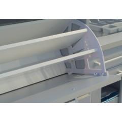 Kovanie otočné na topánky 3-policové biely plast