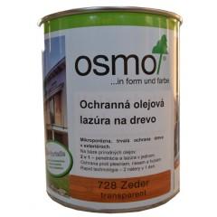 OSMO 728 ochranná olejová lazúra céder 0,75l