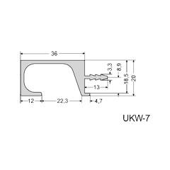 Úchytka - profil hliníkový UKW-7   3,5m