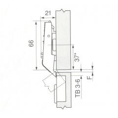 AVENTOS HF zaves stredovy CLIP top 78Z5500.T
