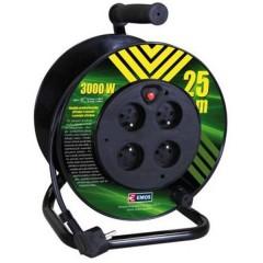 Kábel predlžovací na bubne 25m 3x1,5mm guma 4x zásuvka