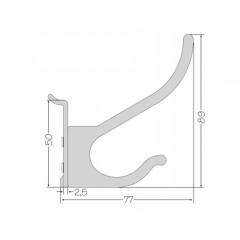 Zavesny system AL listovy - vešiak na oblečenie 15mm