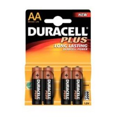 Batéria alkal. AA 1,5V  DURACELL (4ks)