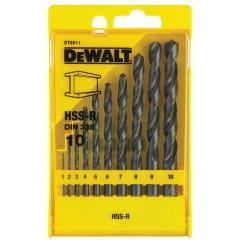 DEWALT DT5911 vrtáky do kovu HSS-R 10-dielna sada 1-10mm