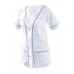 Blúzka ANETA dámska bielo-modrá v.50