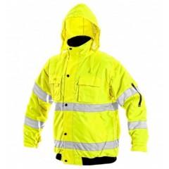 Bunda pracovná LEEDS výstražná žltá v.L