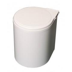 Kôš na smeti okrúhly 270 biely plast