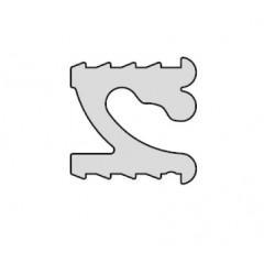 Zavesny system AL listovy - profil do drazky 3,5m