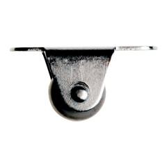 Koliesko nabytkové 15mm priame gumené v20mm