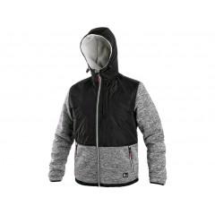 Bunda CARSON zimná šedo-čierna v. XL