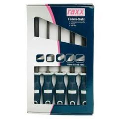 Pilniky 200mm 5-dielna sada RAXX