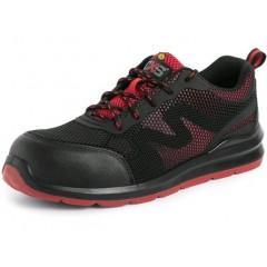 Pracovná obuv CXS SYROS O1 ESD čierno-červená