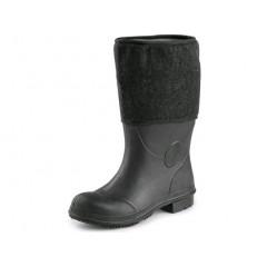 Pracovná obuv BRUNO gumofilcová čierna