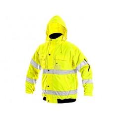 Bunda pracovná LEEDS výstražná žltá