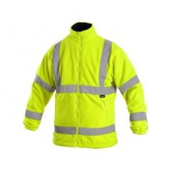 Fleecová výstražná bunda PRESTON, žltá