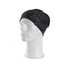 CXS DARREN čiapka s potlačou čierno-šedá
