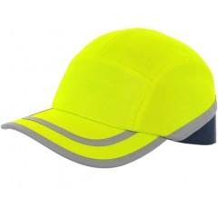 Šiltovka CALLUM s plastovou výstuhou reflexná žltá
