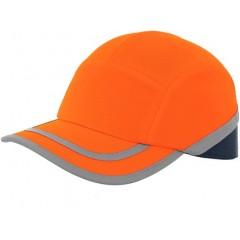 Šiltovka CALLUM s plastovou výstuhou reflexná oranžová