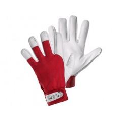 Rukavice TECHNIK, kombinované, červeno-biele
