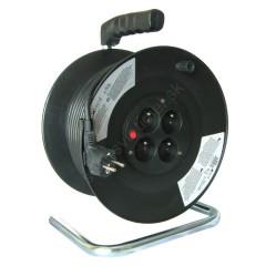 Kábel predlžovací na bubne 25m 3x1,5mm guma 4x zásuvka IP20