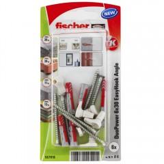 FISCHER EasyHook pravouhlý háčik DuoPower 6x30mm 6ks/bal. 557916