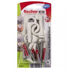 FISCHER EasyHook polguľatý háčik DuoPower 6x30mm 6ks/bal. 557923