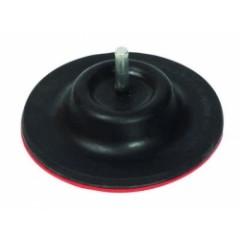 Tanier gumený so suchým zipsom 125mm so stopkou do vŕtačky