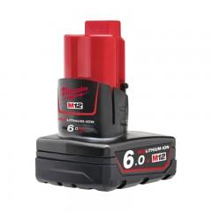 MILWAUKEE M12 B6 akumulátor REDLITHIUM-ION™ 12 V, 6,0 Ah