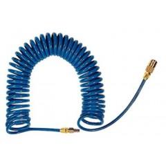 Agre hadica na vzduch špirálová s prípojmi PU 9m   12x8mm