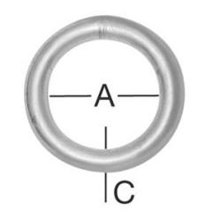 Vormann skrutka s okom 100x22x7,8 mm (2ks)