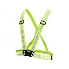 Reflexný kríž elastický výstražný, žltý