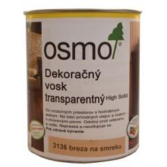 OSMO 3136 vosk dekoračný transp. breza 0,75l