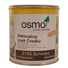 OSMO 3169 dekoračný vosk Creativ čierny 0,375l
