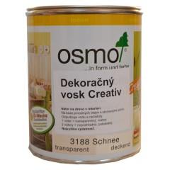OSMO 3188 dekoračný vosk Creativ sneh 0,375l