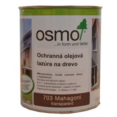 OSMO 703 ochranná olejová lazúra mahagón 0,75l