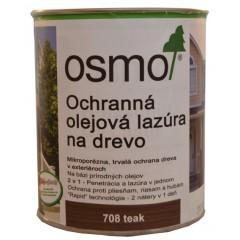 OSMO 708 ochranná olejová lazúra teak 0,75l