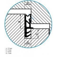 Tesnenie ok. ACF 5250 siroke 15mm -rustikal   (bal 150m)