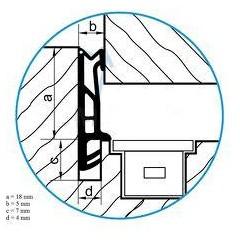 Tesnenie ok. ACF 5855 siroke 18mm - biele (160m)