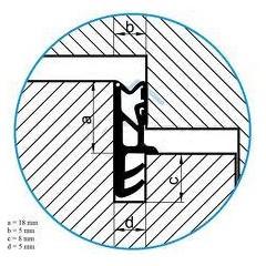 Tesnenie ok. ACF 5350 siroke 18mm -hnede    (bal 150m)