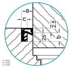 Tesnenie ok. prídavné ACF 6020 mahagon    (bal 2x200m)