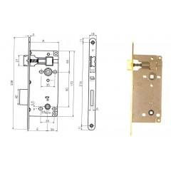 Zámok AGB WC90-75/50/18 bronz