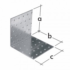 Uholnik montazny KM10,  D 00610 (80x80x100x2)