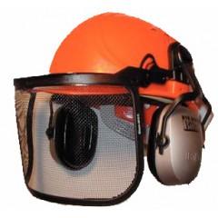 Ochrana tváre s kovovou mriežkou