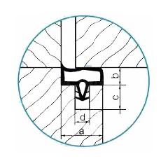 Tesnenie dverové interier EV 3967-mahagon (bal 2x50m)
