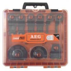 AEG sada pracovných nástavcov 9-dielna k multif.náradiu OMNI