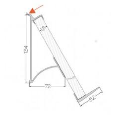Zavesny system AL listovy - polička na knihu 230mm