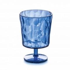 KOZIOL CRYSTAL 2.0 S pohár na stopke 250ml transp. modrá