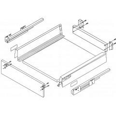 Výsuv ModernBox H204/450mm šedý