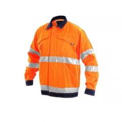 Blúza NORWICH výstražná oranžovo-modrá v.48