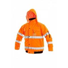 Bunda LEEDS výstražná oranžová v.XL